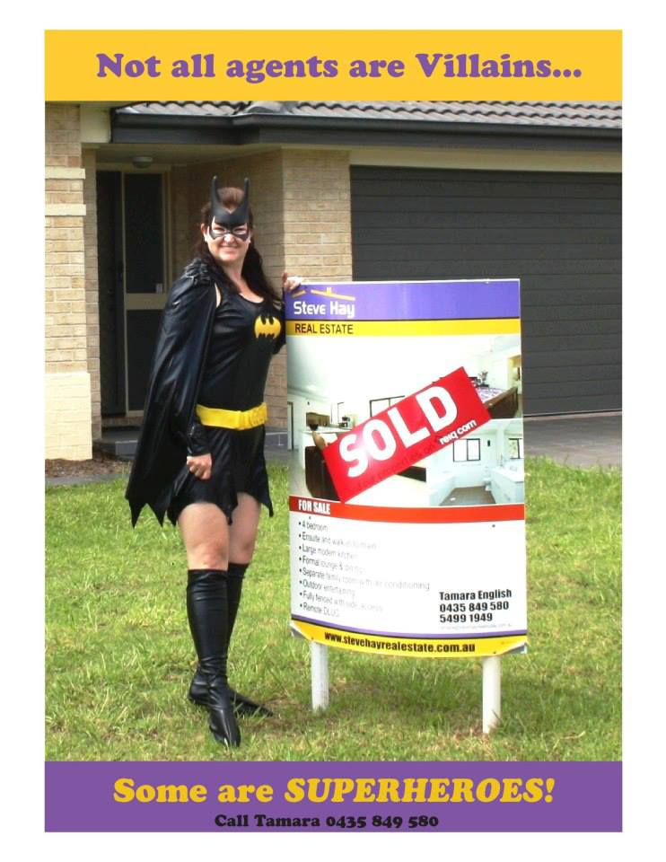 Real Estate Agent Pruple Cow